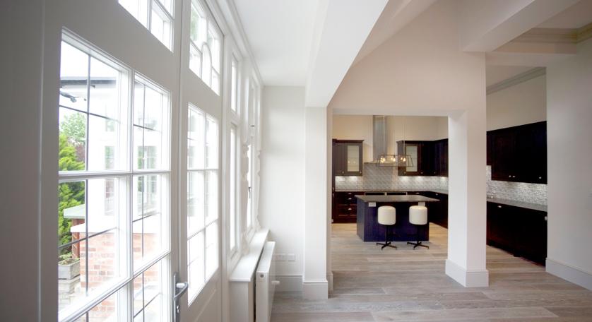 Wooden casement windows in London